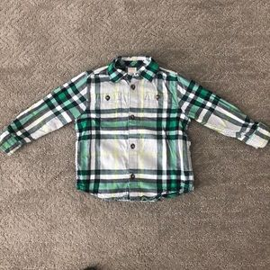 Gymboree flannel button up shirt 2T